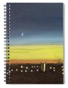 Colorado Spring Night Skyline Spiral Notebook