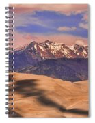 Colorado's Great Sand Dunes Shadow Of The Clouds Spiral Notebook