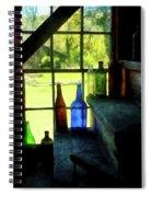 Colored Bottles On Steps Spiral Notebook