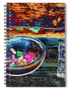 Colored Chalk Spiral Notebook