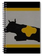Colored Cows Spiral Notebook