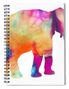 Colored Elephant Painting Spiral Notebook