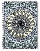 Colored Flower Zentangle Spiral Notebook