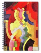 Colored Forms IIi By August Macke Spiral Notebook