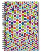 Colored Geometries Spiral Notebook