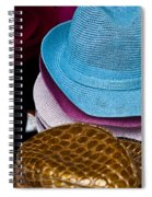 Colored Hats Spiral Notebook
