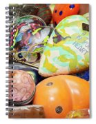 Colored Hearts Spiral Notebook