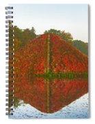 Colored Lake Pyramid Spiral Notebook