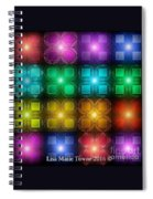Colored Lights Spiral Notebook
