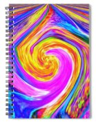 Colored Lines And Curls Spiral Notebook