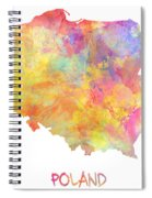 Colored Map Of Poland Spiral Notebook