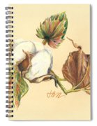 Colored Pencil Cotton Plant Spiral Notebook