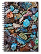 Colored Polished Stones Spiral Notebook