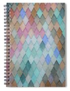 Colored Roof Tiles - Painting Spiral Notebook