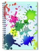 Colored Splashes On A Very Beautiful Blue Background Spiral Notebook