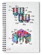 Colorful 1961 Lego Brick Patent Minimal Spiral Notebook