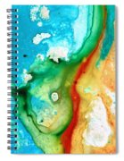 Colorful Abstract Art - Captured - By Sharon Cummings Spiral Notebook