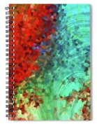 Colorful Abstract Art - Rejoice - Sharon Cummings Spiral Notebook