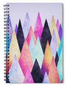 Colorful Abstract Geometric Triangle Peak Woods  Spiral Notebook