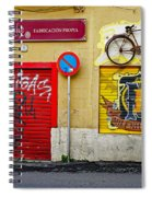 Colorful Advertising In Palma Majorca Spain Spiral Notebook
