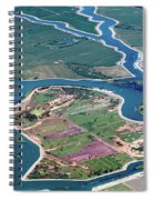 Colorful Aerial Of Commercial Farmland In Stockton - Medford Island - San Joaquin County, California Spiral Notebook