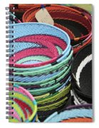 Colorful African Wire Bowls Spiral Notebook