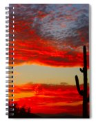 Colorful Arizona Sunset Spiral Notebook