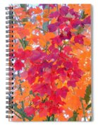Colorful Autumn Leaves Spiral Notebook