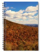 Colorful Autumn Panorama - West Virginia Spiral Notebook