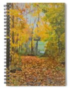 Colorful Autumn Trail Spiral Notebook