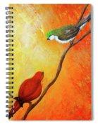 Colorful Bird Art Spiral Notebook