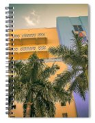 Colorful Building And Palm Trees Spiral Notebook