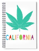 Colorful California Cannabis- Art By Linda Woods Spiral Notebook