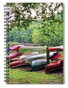 Colorful Canoes At Hungry Mother State Park Spiral Notebook