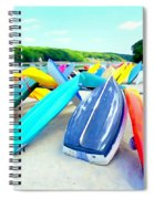 Colorful Canoes Spiral Notebook
