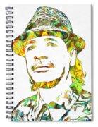 Colorful Carlos Santana Spiral Notebook