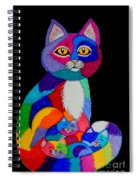 Colorful Cats And Kittens Spiral Notebook