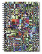 Colorful Chaotic Composite Spiral Notebook