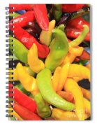 Colorful Chili Peppers  Spiral Notebook