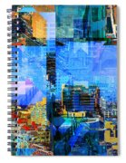 Colorful City Collage Spiral Notebook