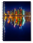 Colorful City Reflection 17 06 2015 Spiral Notebook