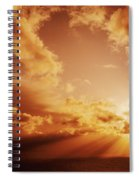 Colorful Cloudburst Spiral Notebook