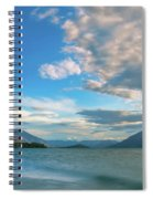 Colorful Clouds At Golden Hour On Lake Wakatipu At Glenorchy, Nz  Spiral Notebook