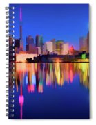 Colorful Cn Tower  Spiral Notebook