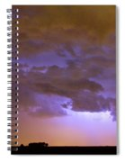 Colorful Colorado Cloud To Cloud Lightning Thunderstorm 27 Spiral Notebook