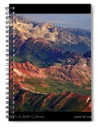 Colorful Colorado Rocky Mountains Planet Art Poster  Spiral Notebook