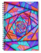 Colorful Cuts Fractal Spiral Notebook