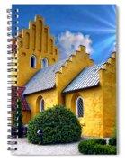Colorful Danish Church Spiral Notebook
