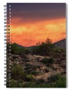 Colorful Desert Skies At Sunset  Spiral Notebook
