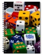 Colorful Dice 2 Spiral Notebook